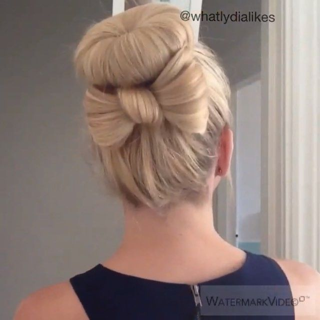 watch me cute bow bun tutorial
