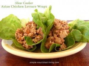This is a very easy recipe for Slow Cooker Asian Chicken Lettuce Wraps. Each hearty portion has about 534 calories and 13 WW Points Plus.