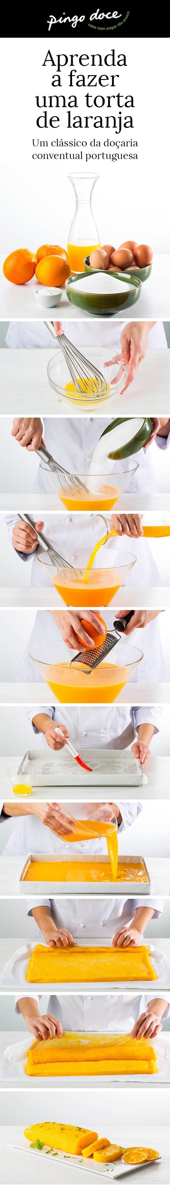 Saiba como fazer a tradicional torta de laranja com o nosso passo-a-passo