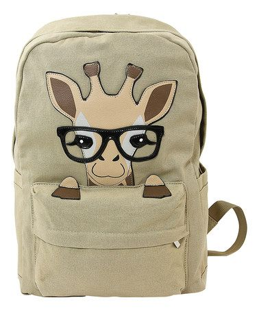 Look what I found on #zulily! Beige Baby Giraffe Canvas Backpack #zulilyfinds
