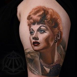 Lucille Ball. | 15 Fabulous Tattoos By Nikko Hurtado