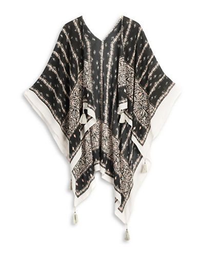 Jewellery & Accessories | Capes & Ponchos  | Block Printed Topper | Hudson's Bay