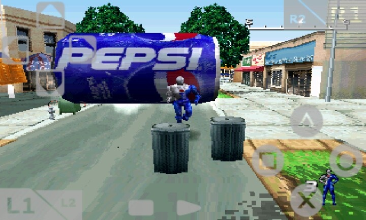 Playing PEPSI	man.