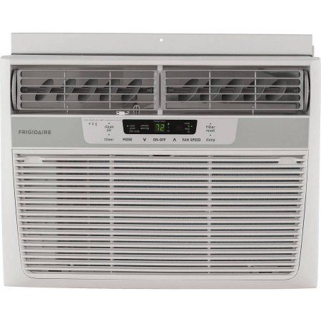 Frigidaire FFRE1233Q1 Energy Efficient 12,000-BTU 115V Window Mounted Compact Air Conditioner with Temperature Sensing Remote Control, White