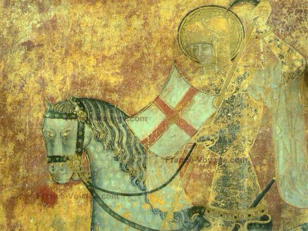 Fresque à l'Eglise Abbatiale Saint-Léger Ebreuil