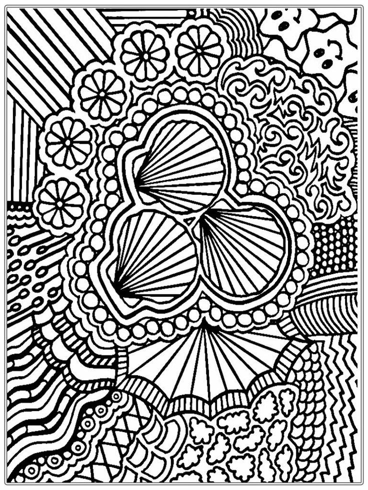 Printable Shell Adult Coloring Pages Free 768x