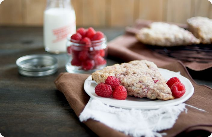 Whole Wheat Raspberry Scones are a creamy, crumbly treat. With love ...