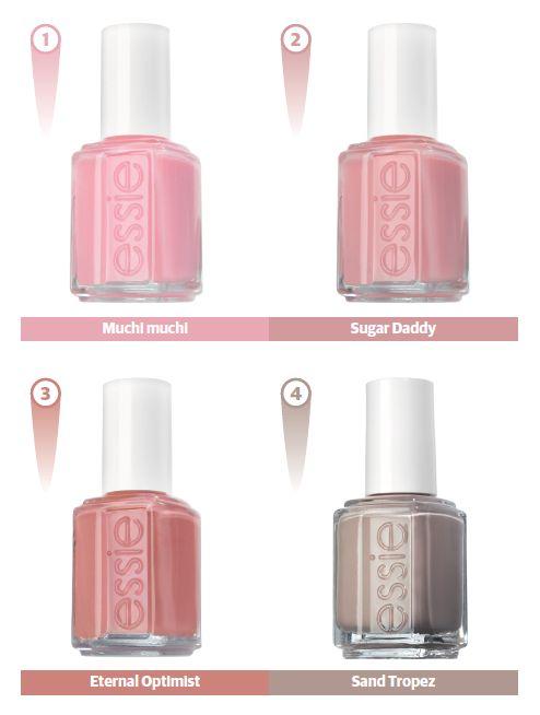 Go pink or au natural.