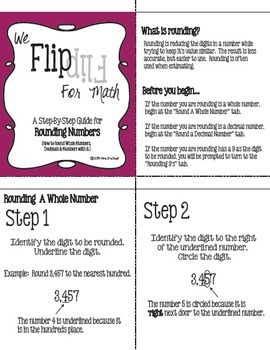 Flip for Math:  Step-By Step, 3-in-1, Flip Book for Rounding