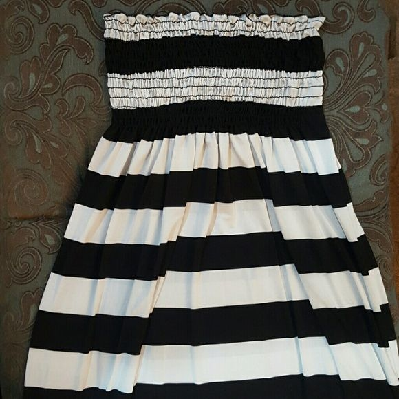 Candy striped maxi dress