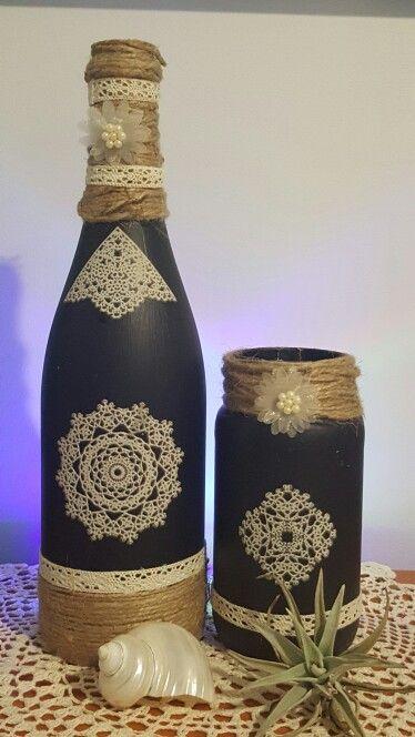 Diy wine bottle craft