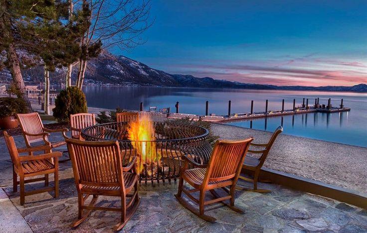 Hyatt Regency Lake Tahoe Resort, Spa and Casino - Incline Village. The fire-pit alone speaks romance