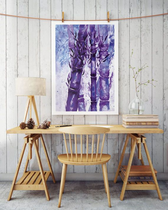 Watercolor painting of a bamboo forest.  Great for wall decoration or as a gift.   High resolution .jpeg ready to be printed on any size  Check out other products from our shop as well:  https://www.etsy.com/listing/517284945/monstera-ladybug-poster-wall-art?ref=shop_home_active_1 https://www.etsy.com/listing/503393874/simplicity-empathy-serenity-poster-art?ref=listing-shop-header-0 https://www.etsy.com/listing/50...