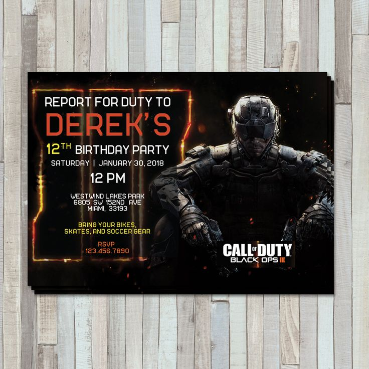 27 best birthday invites images on pinterest invites party time call of duty birthday invite by sweetgemcupcakes on etsy filmwisefo Image collections