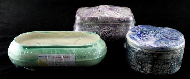 Lot of 3 American Candle Factory Various 100 Soy Wax Candles and Holders | eBay