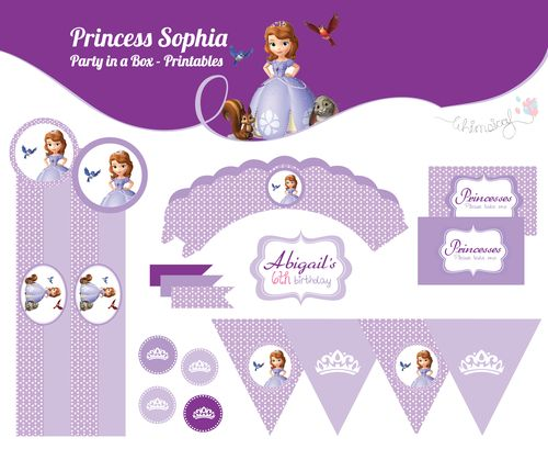 ONLINE STORE - Princess Sophia - Party in a box  http://awishawaywhimsical.blogspot.com/p/online-store_8.html#!/~/product/category=8473046&id=32883176