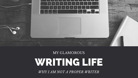 My glamour-filled writing life