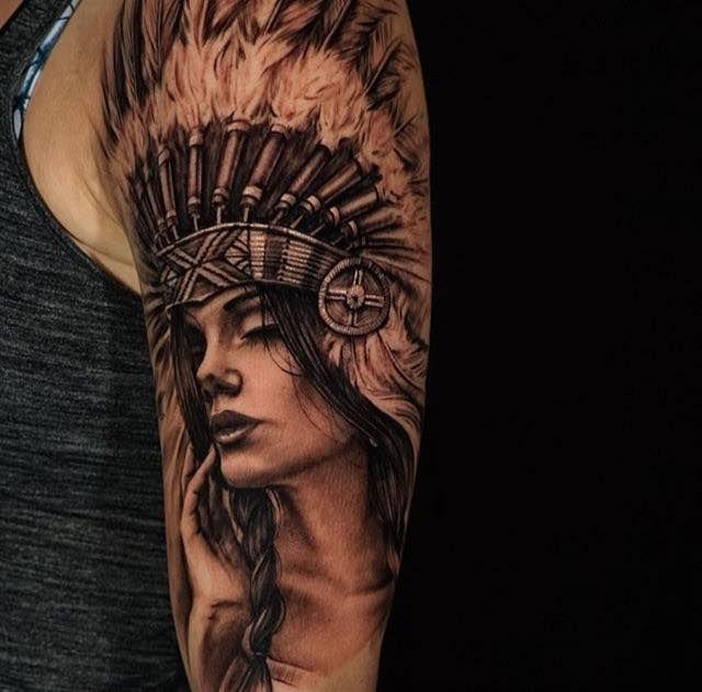 pin von silvia dirnberger auf tattoos pinterest tattoos f r m nner f r m nner und indianerin. Black Bedroom Furniture Sets. Home Design Ideas