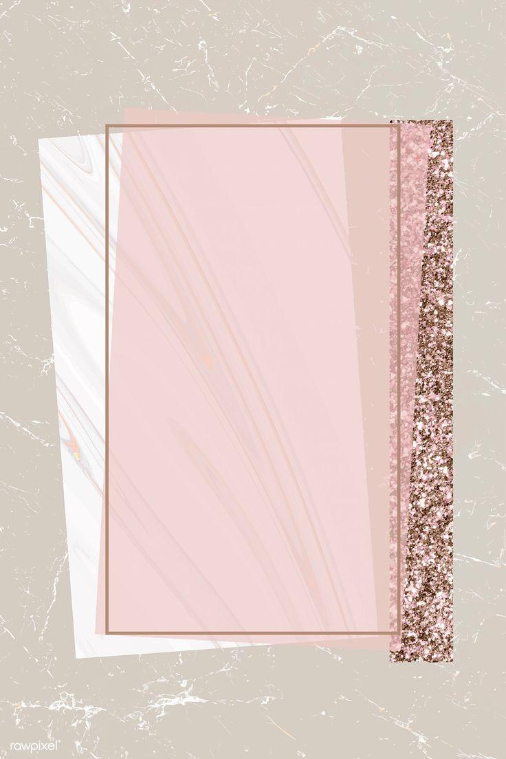 Download premium illustration of Shimmering rectangle frame design vector