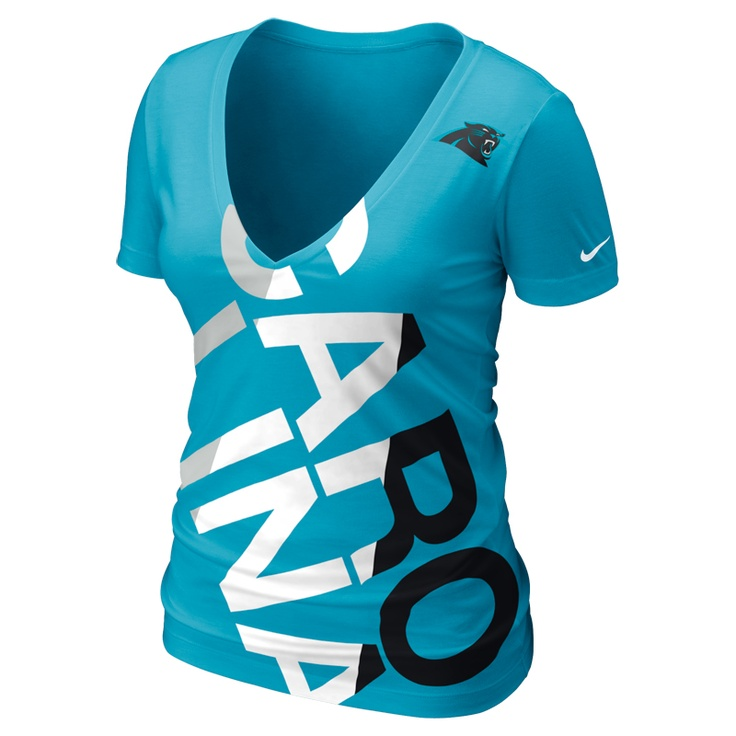 Nike NFL Carolina Panthers Touchdown Women's V-Neck