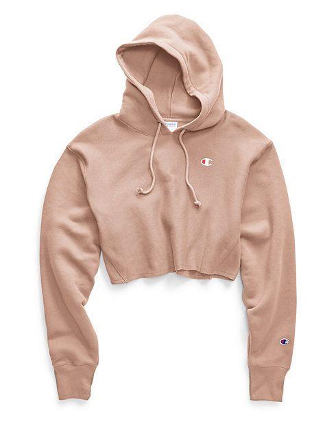 Life® Women's Reverse Weave® Cropped Cut Off Hood-Men's Fit, C Logo