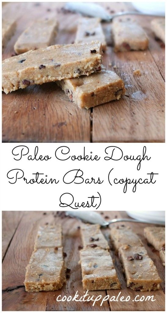 Paleo Cookie Dough Protein Bars | Cook It Up Paleo