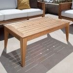 Craftsman Teak Outdoor Sofa Table - Westminster Teak Outdoor Furniture-642.00