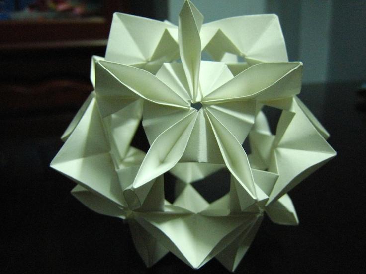Infinity Kusudama. Origami has taught me patience :)