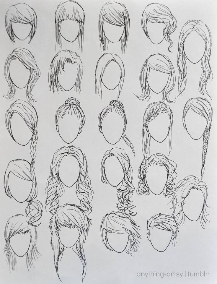 Hairstyles Anime Girls Girl Hair Drawing Anime Drawings How To Draw Hair