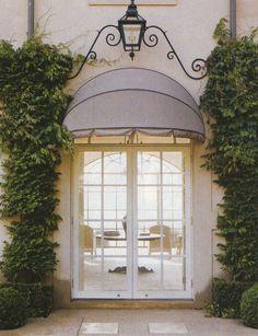 Round awning   Awning over door, House exterior, Beautiful ...