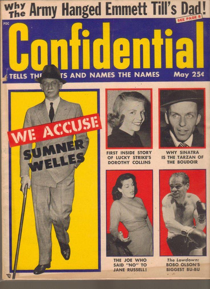Confidential Magazine May 1956 Sumner Welles Sinatra Jane Russell Bobo Olson www.advintageplus.com