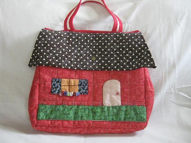 /// Bolsa de casita :) #patchwork #handmade #casita #house