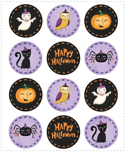 Freebie: Halloween Cupcake Toppers