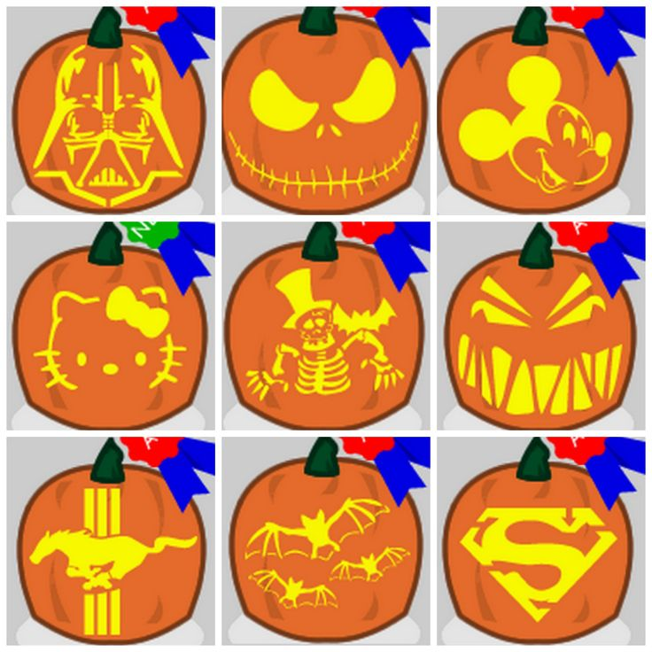Hundreds of Free Pumpkin Stencils...this will definitely come in handy
