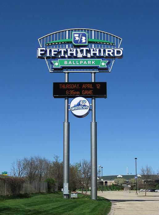 Fifth Third Ballpark - Valley City Sign Pylon Signs - Grand Rapids, MI - Whitecaps Baseball