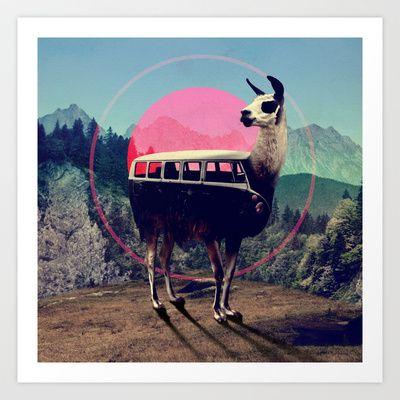 Llama Art Print by Ali GULEC - $17.00