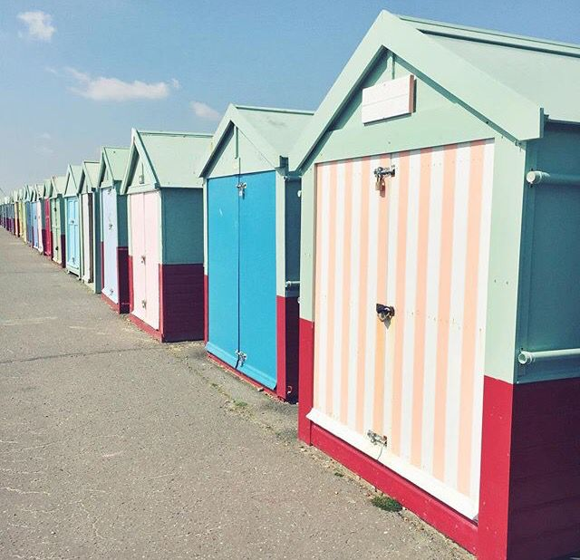 Picture by Zoella: beach huts in Brighton, England! TAKE ME THERE