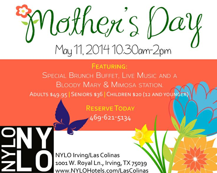 Mothers Day Brunch NYLO Irving Las Colinas