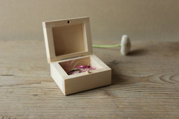 Wood ring box / wedding jewelry box / cufflinks box by NeliStudio