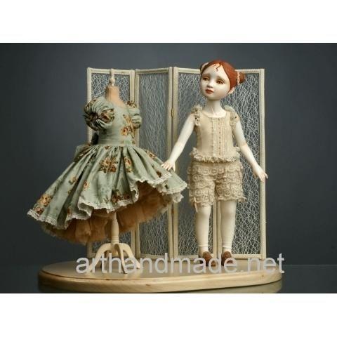 "Ball-jointed doll ""Dress"", BJD. Author Juliet Pelukh - http://arthandmade.net/peluh.uliya  Doll, ball-jointed doll, BJD, collectible doll, handmade doll, gift, originalgift, craft, handmade, collection, Gallery Magical World, кукла, купить куклу, шарнирная кукла, коллекционная кукла, кукла ручной работы, подарок, оригинальный подарок, ручная работа, коллекция, Галерея Волшебный мир"