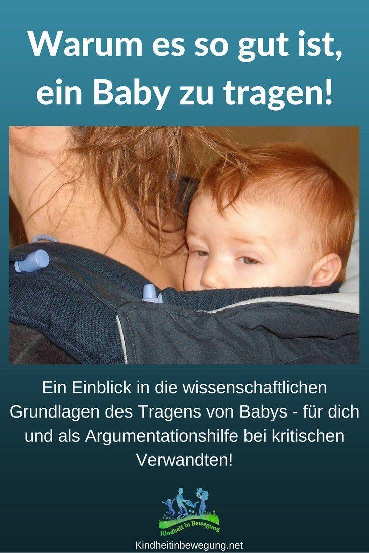 Tragen erfüllt das Grundbedürfnis des Babys nach Körperkontakt und dient als Grundlage für die seelische, geistige und körperliche Entwicklung des Kindes. #Babytragen #Tragen #Baby #bedürfnisorientiert #Tragling #Tragebaby #AlltagmitBaby #Tragetuch #Schreibaby #'HighNeedbaby