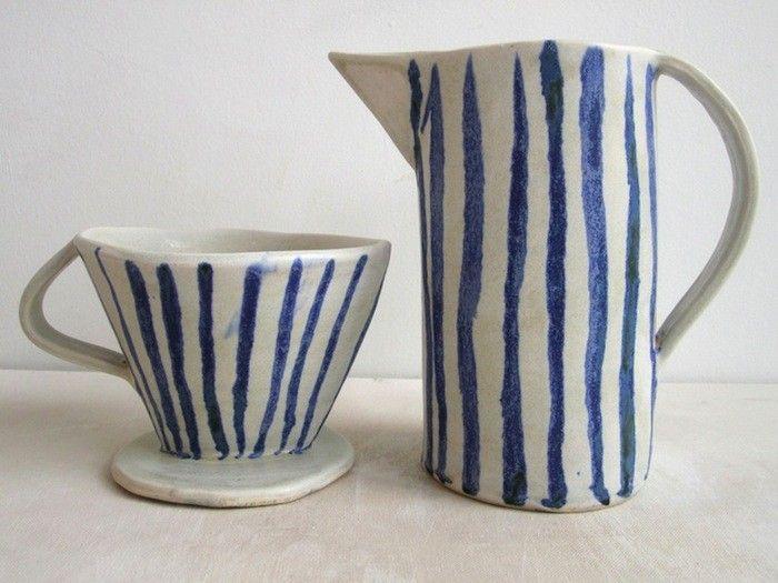 Blue and white coffee dripper Paula Grief Ceramic Coffee Dripper   Remodelista