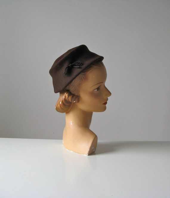vintage brown hat by Neuman Endler Fair Fields