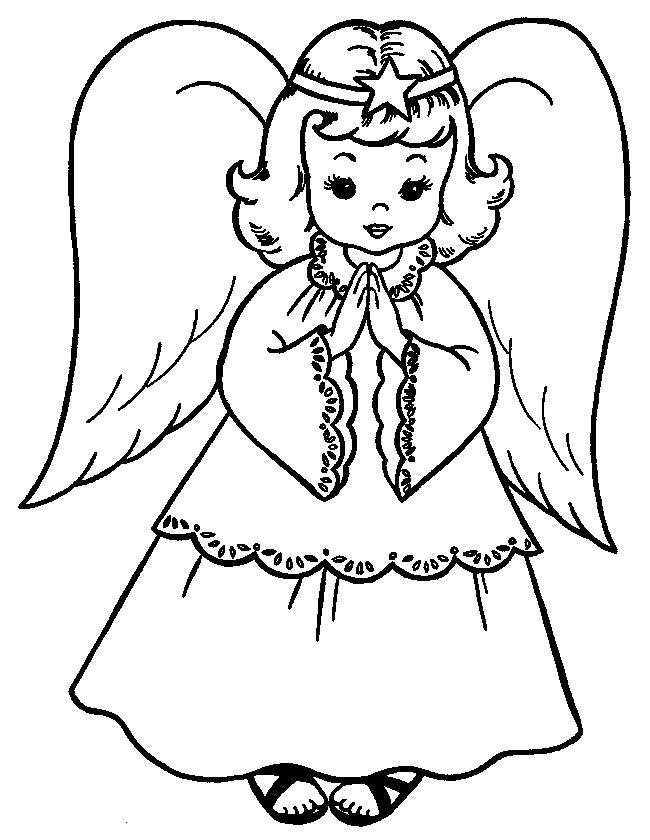 Картинка ангела с крыльями для детей раскраска, про маленького