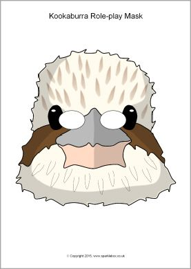 Kookaburra role-play masks (SB11184) - SparkleBox