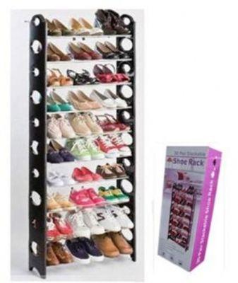 Стойка Для Обуви Stackable Shoe Rack, 10 полок + чехол для стойки