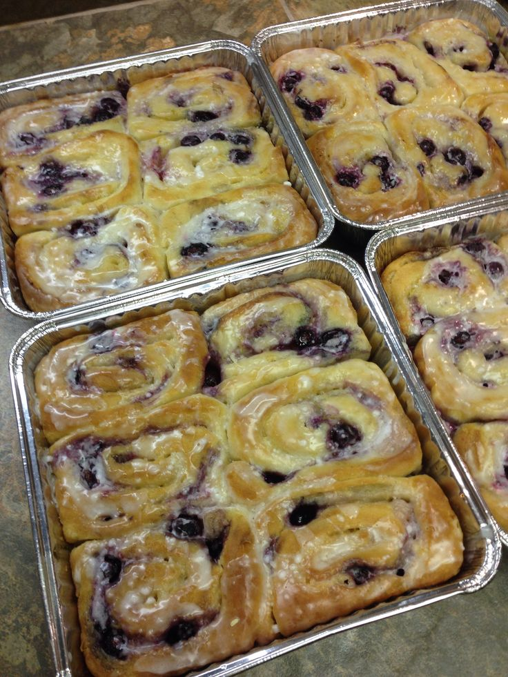 Blueberry lemon sweet rolls | Cooking-Backing | Pinterest