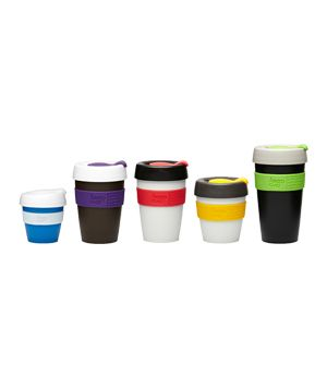 Keepcup reusable coffee cups, designed to be handed to the barista each morning instead of taking a disposable. Can be personalised and branded. Swag? NOT for  Paris - there's not really a takeaway latte culture - but elsewhere.