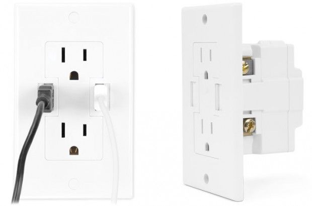 Wall Outlet with a USB Charger