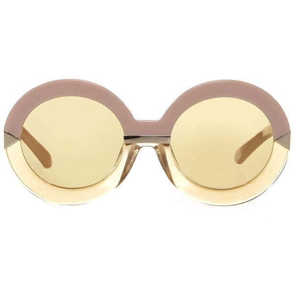 fendi cat eye sunglasses sale aa2n  Fendi Blue Yellow Sunglasses  liked on Polyvore featuring accessories,  eyewear, sunglasses, yellow